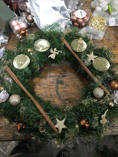 Christmas Wreaths, Table Decorations, Holiday Decor, Furniture, Home Decor, Crafting, Decoration Home, Room Decor, Home Furnishings