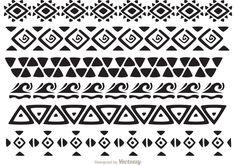 Hawaiian Tribal Pattern Vectors Pack 2 - another awesome Hawaiian tribal pattern…