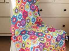 How To Crochet the Technicolour Floral Blanket Motif – The Knitting Network
