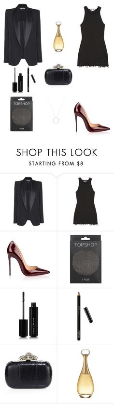 """""""Untitled #886"""" by elenek1 ❤ liked on Polyvore featuring Tom Ford, CÉLINE, Christian Louboutin, Topshop, Marc Jacobs, Alexander McQueen, Christian Dior and Roberto Coin"""