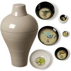 prachtige set bowls/vaas van Ibride voor 95 euro