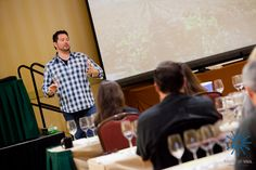 Wine tasting through a variety of Spanish wines during Taste of Vail wine seminar.