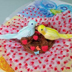 Fondant birds