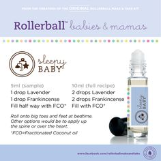 Sleepy Baby :: Rollerball Babies & Mamas Make & Take Workshop Kit #essentialoils #recipe #rollerballs #sleep #baby #kit #makeandtake