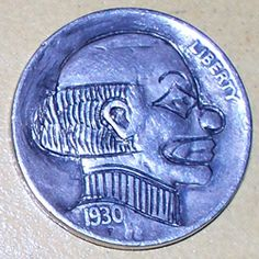 Adam Leech Hobo Nickel, Buffalo, Classic Style, Coins, Carving, The Originals, Rooms, Wood Carvings, Sculptures