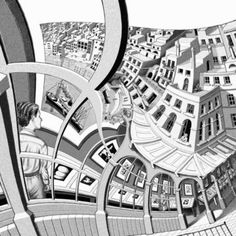M. C. Escher. How my life feels at times, twisted and warped...