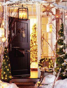 Christmas porch decorations.