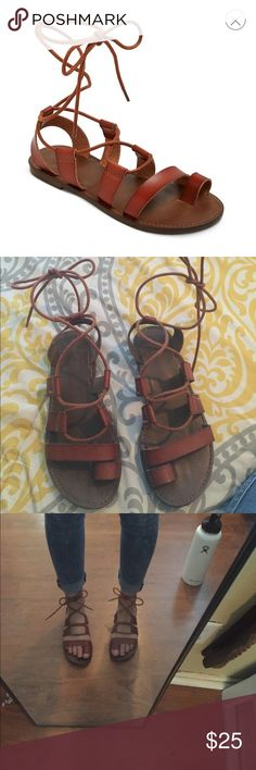 Target woman's lilac Gladiator Sandals Size 6 purchased from Target. Brand is Mossimo Supply Co Mossimo Supply Co Shoes Sandals