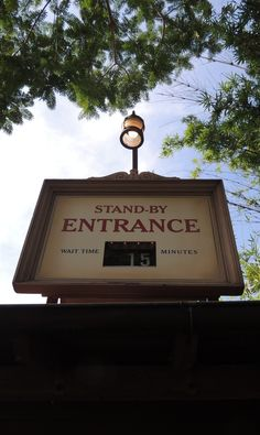 """Jungle Cruise Standby Wait Sign.   Jungle Cruise Skipper narration: """"You know they say you can always judge the quality of a ride by it's line, well how long did you folks wait? My point exactly."""""""