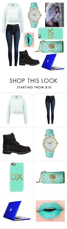 """""""I'm back"""" by xionne ❤ liked on Polyvore featuring Ivy Park, Timberland, Olivia Pratt, Casetify, Love Moschino and Speck"""