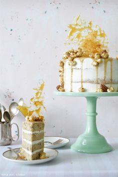 Curly Girl Kitchen: Butter Pecan Praline Anniversary Cake
