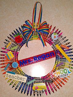 My own version for the Crayon Wreath