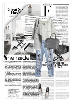 """Sheinside 2"" by emina-turic ❤ liked on Polyvore featuring Nicki Minaj, Valextra and Keds"