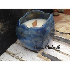 A.Matusik- Soy candle and my raku ceramic