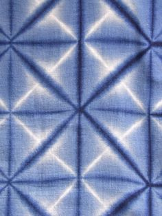 detail of ITAJIME SHIBORI YUKATA. FOLDED AND CLAMPED SHIBORI  HANDSPUN COTTON, BOTANICAL INDIGO  LATE 19C/EARLY 20C