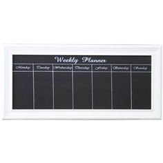 Weekly Planner Chalk Board 16 99