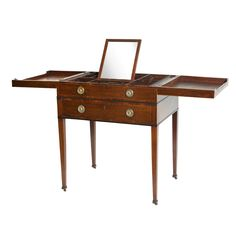 Georgian Mahogany Poudreuse Vanity Table