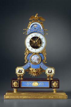 A late Louis XVI astronomical skeleton clock y Lamiral, enamel by Joseph Coteau, Paris, date circa 1790