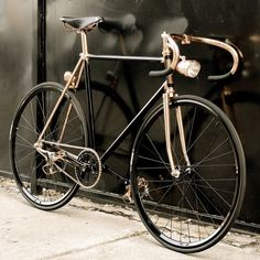"pvblika: "" Madison Street Bicycle from Detroit Bicycle Company – Black & Copper plated. """