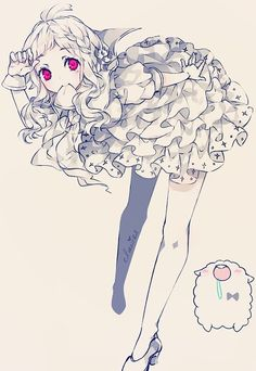 Garota Anime Fofinha e mascote