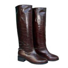 Christian Louboutin Chocolate Cate Chain Biker Boots - $142.61