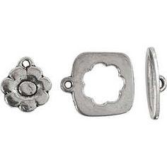 Bedel voor sluiting, afm 15-20 mm, antiek zilver, AS, 1set