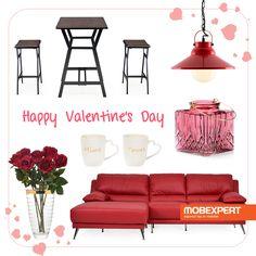 Sărbătorește Ziua Îndrăgostiților într-un decor romantic. #valentinesday #moodboard #decoideea