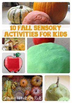 10 fall sensory activities for children via Growing Hands-On Kids