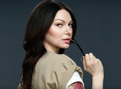 Alex Vause - Orange is the new black.   It has been decided that she is hot..  I think the dark hair and glasses do a lot for her.