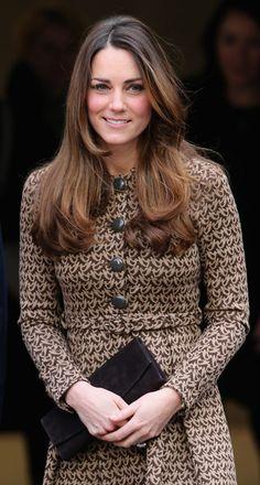 Kate Middleton Suede Clutch - Kate Middleton Looks - StyleBistro