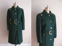 Vintage 1960s Coat In the Green George West by CreatedAndCollected, $98.00