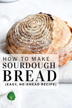 This no-knead sourdough bread is marvelously easy, and it makes a delicious artisan-style boule of a crisp crust and moist, airy crumb. You only need flour, starter culture, water and a little bit of salt, and it's practically effortless – rising overnight, with no need to knead. | #sourdough