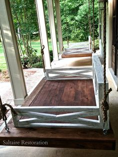 Daybed Swing, Front porch swing, Saltaire Swing I want this on my porch!