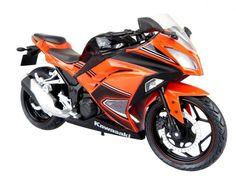 Skynet Aoshima Kawasaki Ninja250 Orange SE 1/12 Scale Motorcycle Diecast #Skynet #Kawasaki