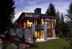 Das Kompass Pointe-Haus – ein modernes Landhaus im Gebirge