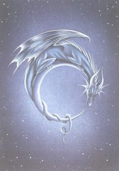 Moon Dragon by Sirenic Angel, via Flickr- my next tattoo?