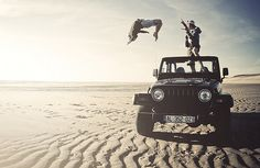 Jeeps - o yeah, when we take off in B.O.B.- we will be towing a 4 WD rag top uh huh