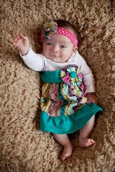 Multi Colored Striped Onesie Dress with by allisonmeredith on Etsy, $20.00