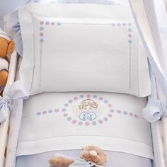 Gallery.ru / Фото #73 - nnn - ergoxeiro Baby Applique, Baby Embroidery, Baby Sheets, Baby Bedding Sets, Baby Knitting, Crochet Baby, Clothing Store Displays, Newborn Fashion, Cross Stitch Baby
