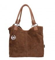 Gio Gini shopper Suède Dark Brown