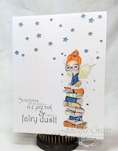 Glitter in my Hair, bookworm, oddball art, oddball, oddball art co, fairy, astrid, astrid the fairy, book lover