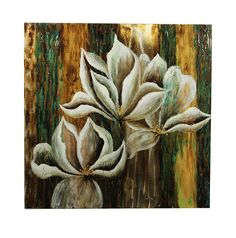 Blossoming Flower Oil Painting on Canvas