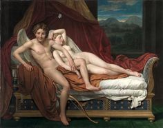 Cupid and Psyche by Jacques Louis David owned by our own Cleveland Museum of Art. Classic!