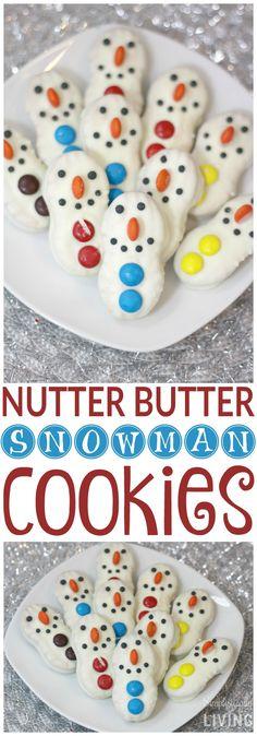 Nutter Butter Snowman Cookies Simplistically Living