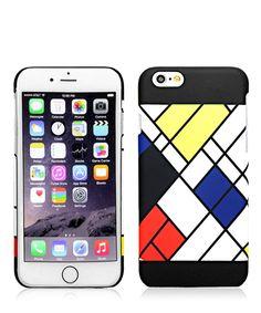 Zig-zag+grid+iPhone+6+plastic+case+by+INKI+on+secretsales.com