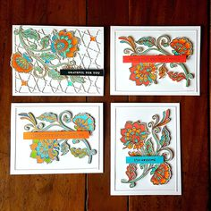 Altenew, Stay Cool, Auburn, Note Cards, Needlework, Scrap, Embroidery, Dressmaking, Index Cards