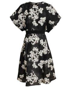 GIAMBATTISTA VALLI | Floral Printed Silk Dress