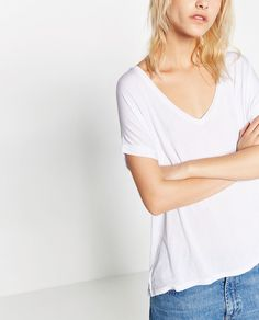 Image 2 of BASIC STRIPED T-SHIRT from Zara