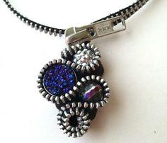 Blue Sparkle Beaded Zipper Necklace at: http://www.zibbet.com/artologie/artwork?artworkId=1271184