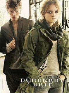 Emma Watson in Burberry Brit
